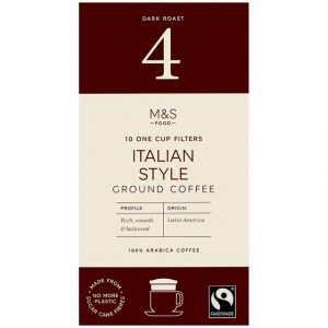 10 Cup Filters Italian Style Coffee 70g