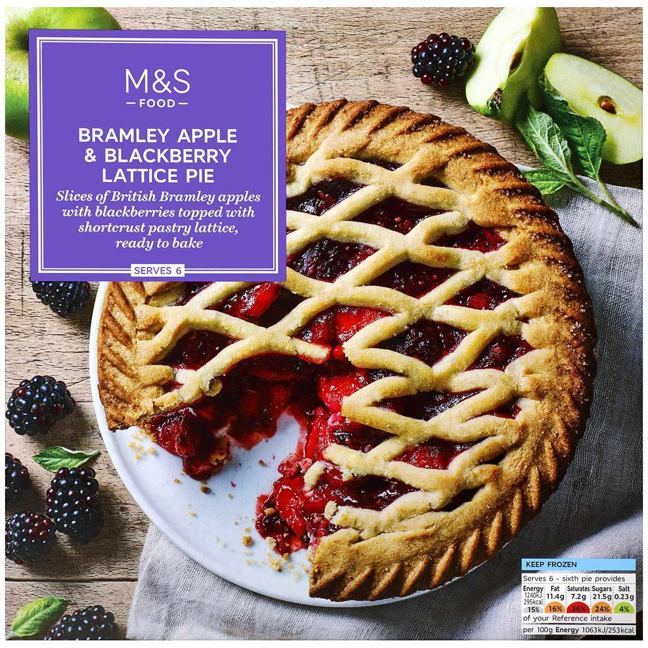 Bramley Apple & Blackberry Lattice Pie Frozen 700g