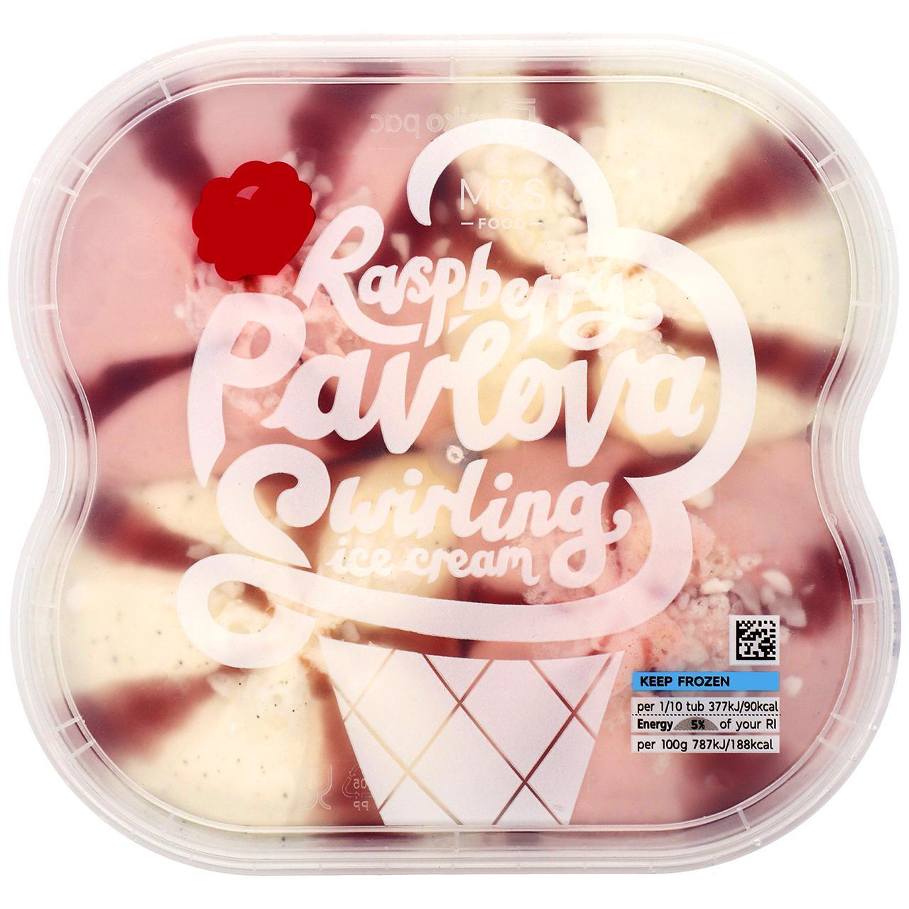 Raspberry Swirl Pavlova Ice Cream 1L