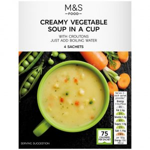 Creamy Vegetable Cup Soup 4 x 18g