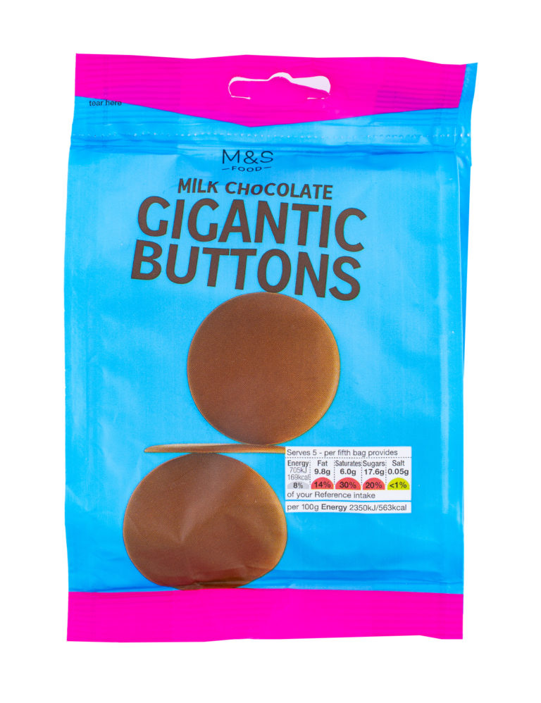 Milk Chocolate Gigantic Buttons
