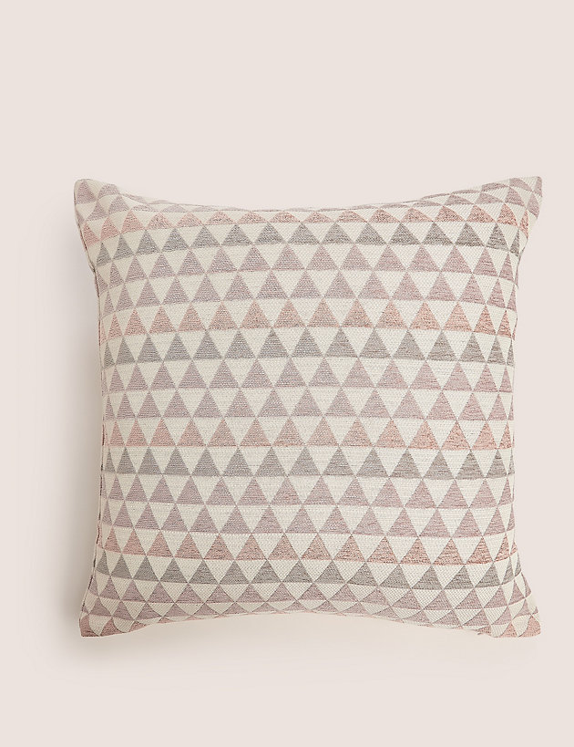 Chenille Geometric Medium Cushion