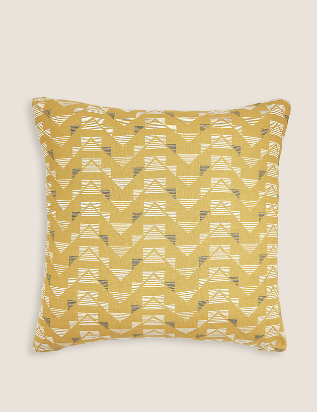 Pure Cotton Geometric Medium Cushion