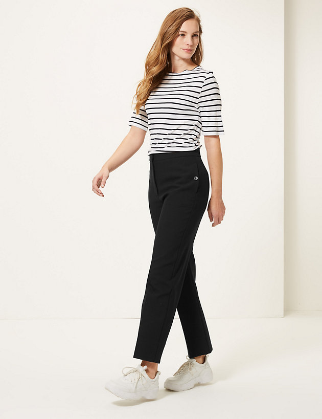 Evie Straight 7/8th Trousers