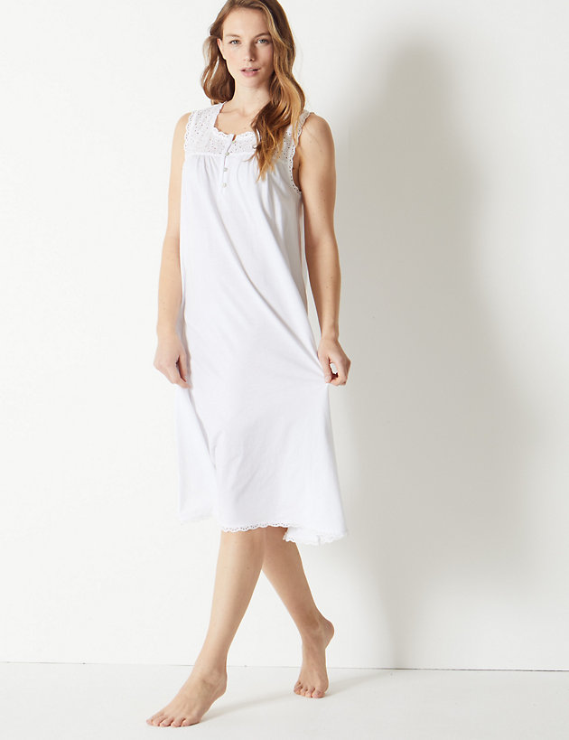 Cotton Embroidered Nightdress