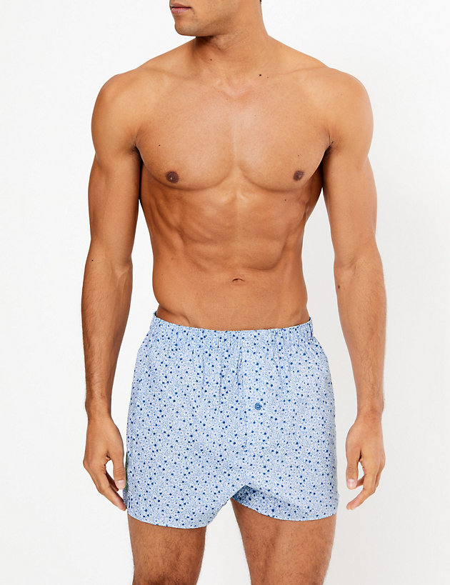 3 Pack Cotton Printed Boxers