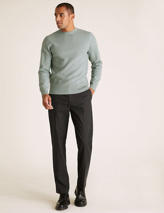 Regular Fit Textured Chinos