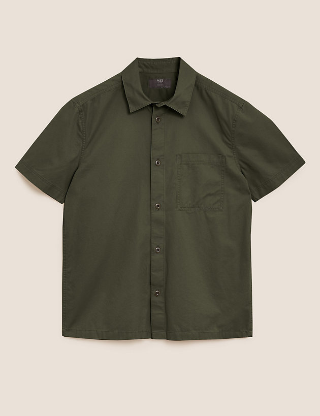 Pure Cotton Twill Utility Overshirt