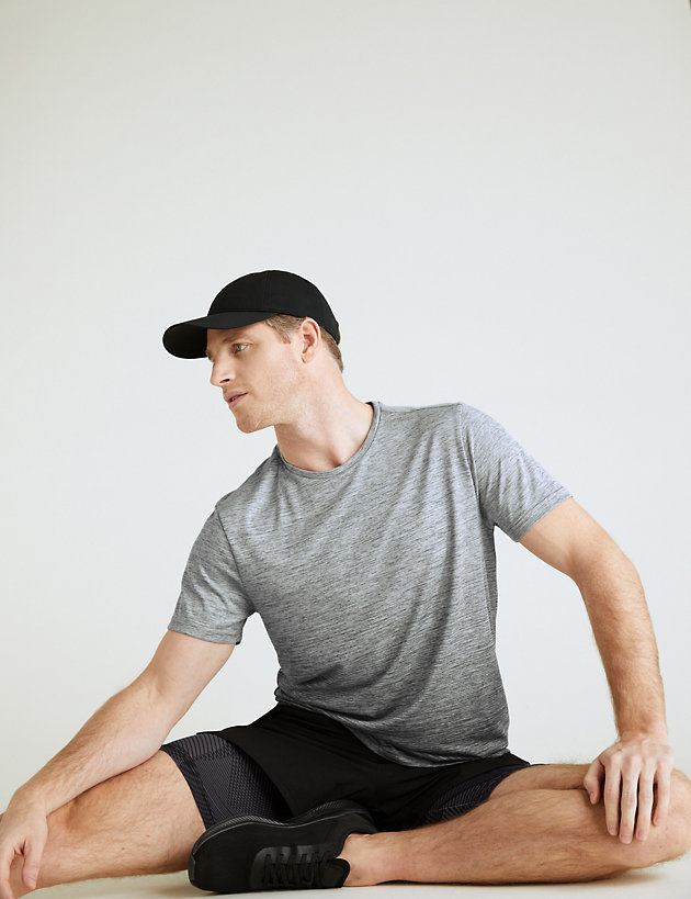 Slim Fit Ombre Training T-Shirt