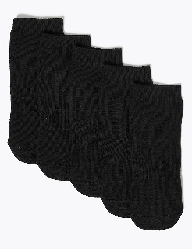 5pk of Cushioned Trainer Liner Socks