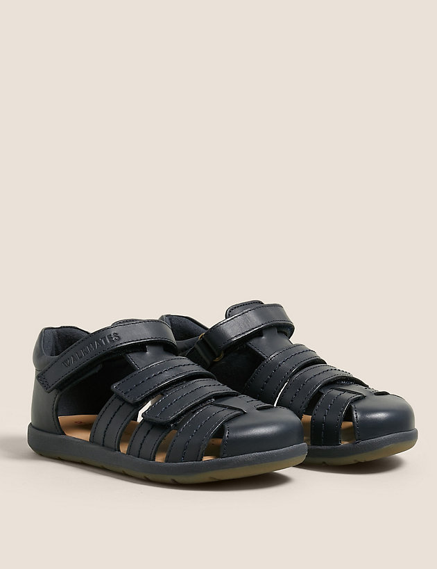 Kids' Leather Riptape Sandals (4 Small - 12 Small)