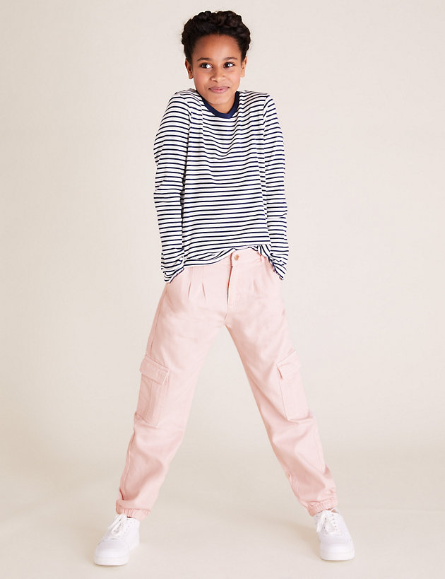 Cotton Cargo Trousers (6-14 Yrs)