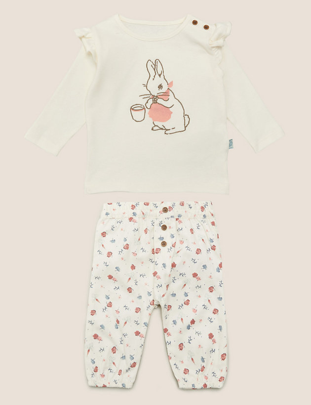 2pc Pure Cotton Peter Rabbit  Outfit (7lbs - 3 Yrs)
