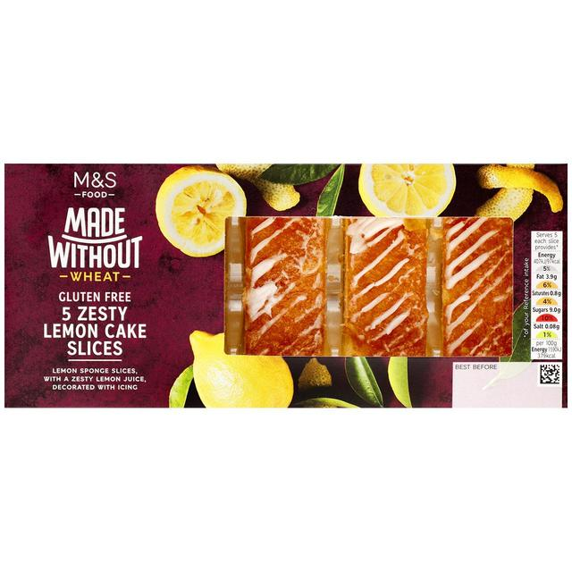 Made Without Zesty Lemon Cake Slices5 per pack