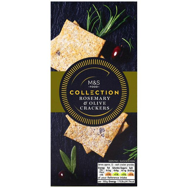 Collection Rosemary & Olive Crackers130g