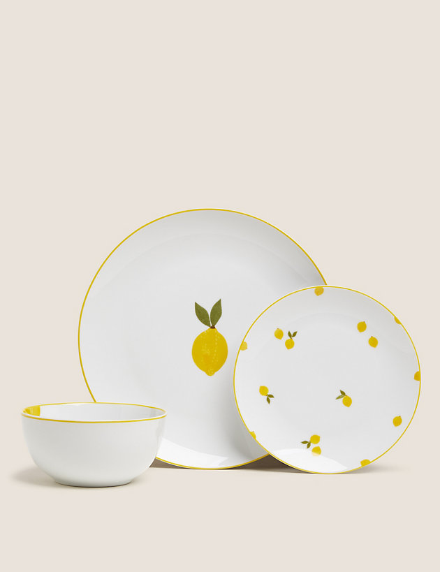 12 Piece Lemons Dinner Set