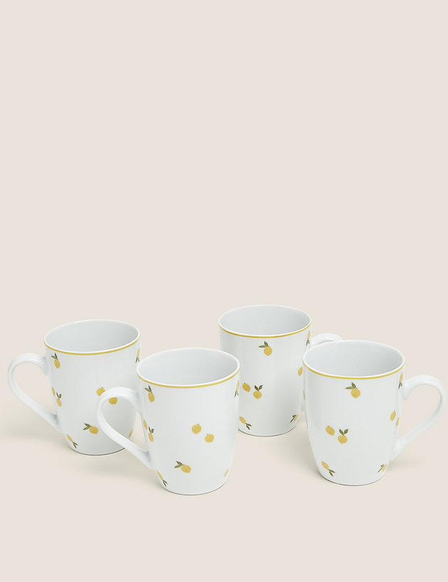 Set of 4 Lemon Mugs
