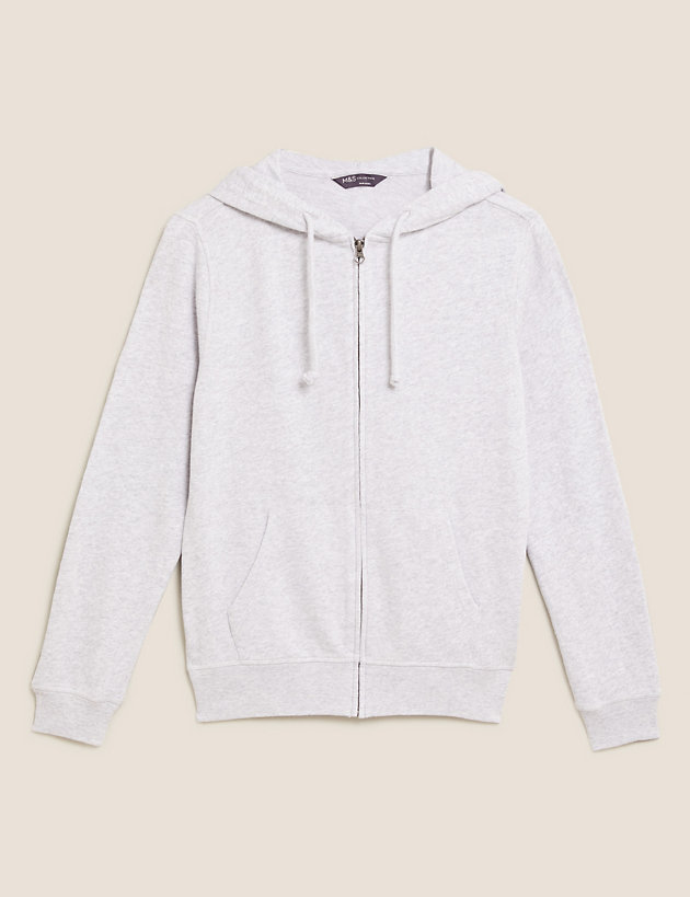 Pure Cotton Relaxed Long Sleeve Hoodie