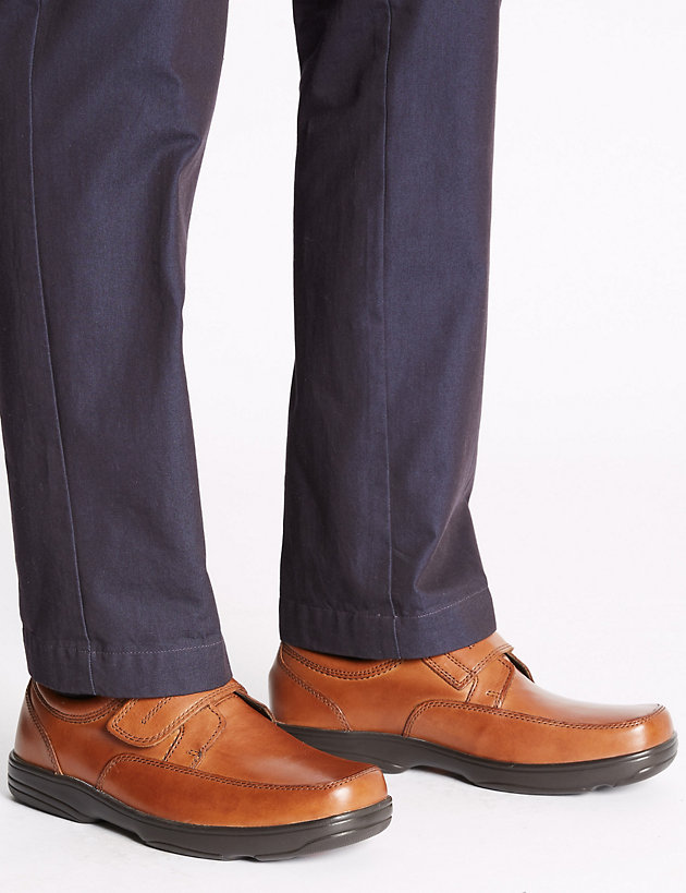 Wide Fit Leather Shoes with Airflex