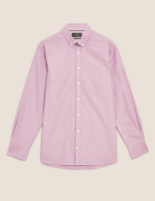 Tailored Fit Pure Cotton Oxford Shirt