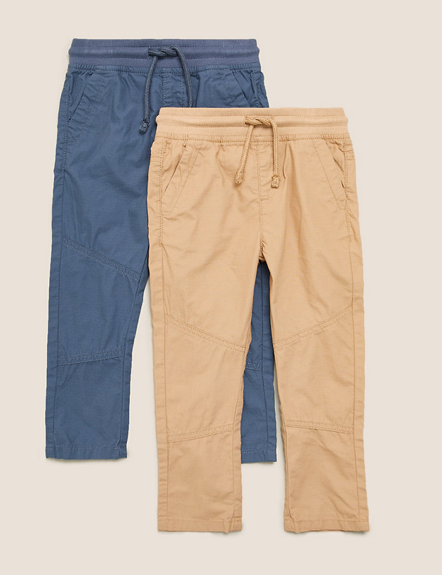 2pk Pure Cotton Trousers (2-7 Yrs)