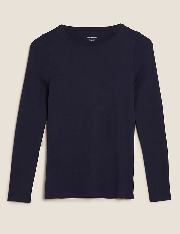 Pure Cotton Regular Fit Long Sleeve Top