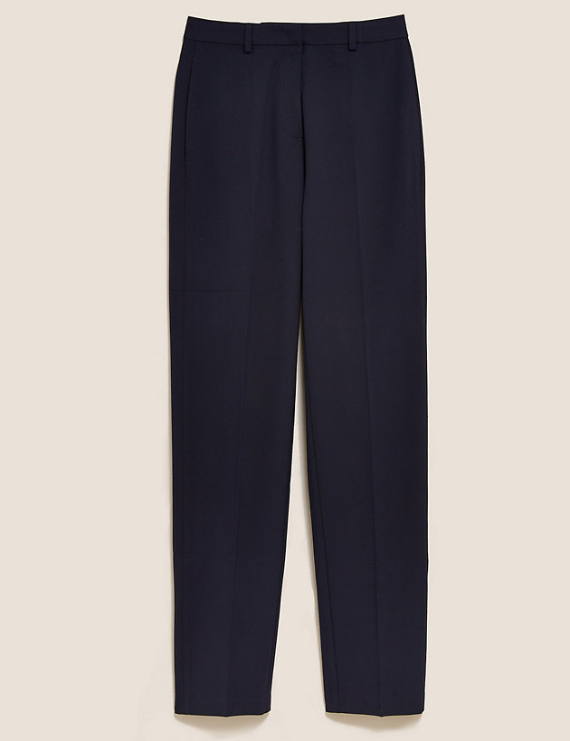 Straight Leg Trousers with Stretch