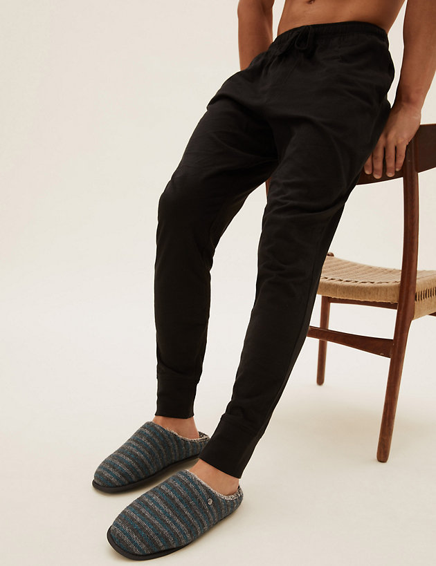 Striped Mule Slippers with Freshfeet