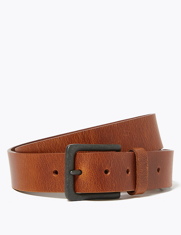 Leather Casual Buckle Belt