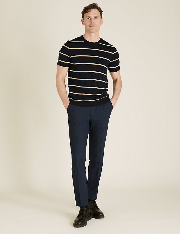 The Ultimate Navy Tailored Fit Trousers