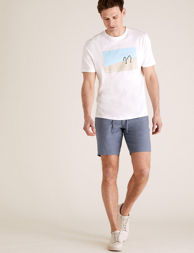 Pure Cotton Pool Graphic T-Shirt