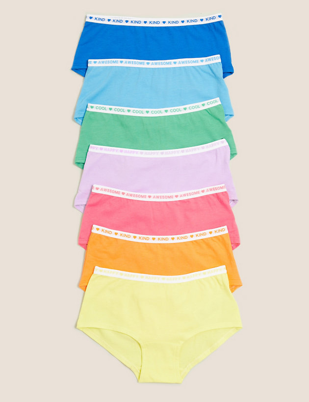 7pk Cotton with Stretch Shorts (2-16 Yrs)