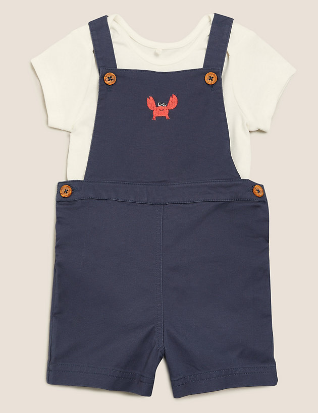 2pc Cotton Crab Outfit (0-3 Yrs)