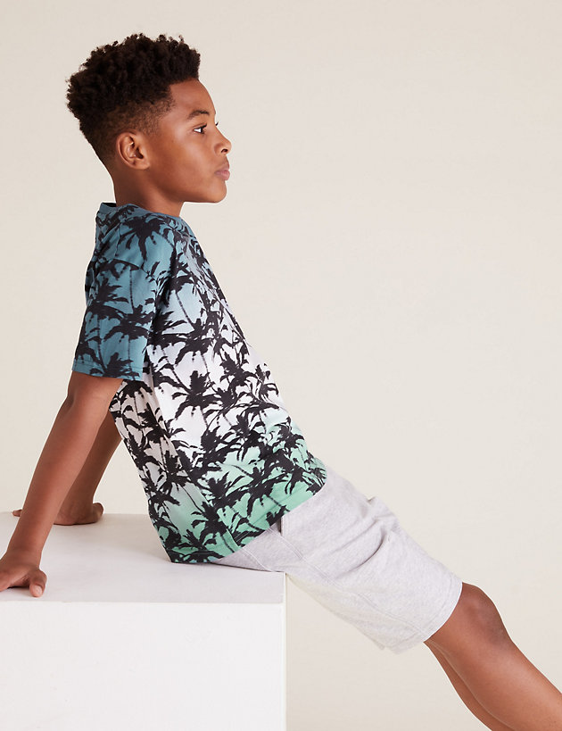 Pure Cotton Patterned T-Shirt (6-16 Yrs)