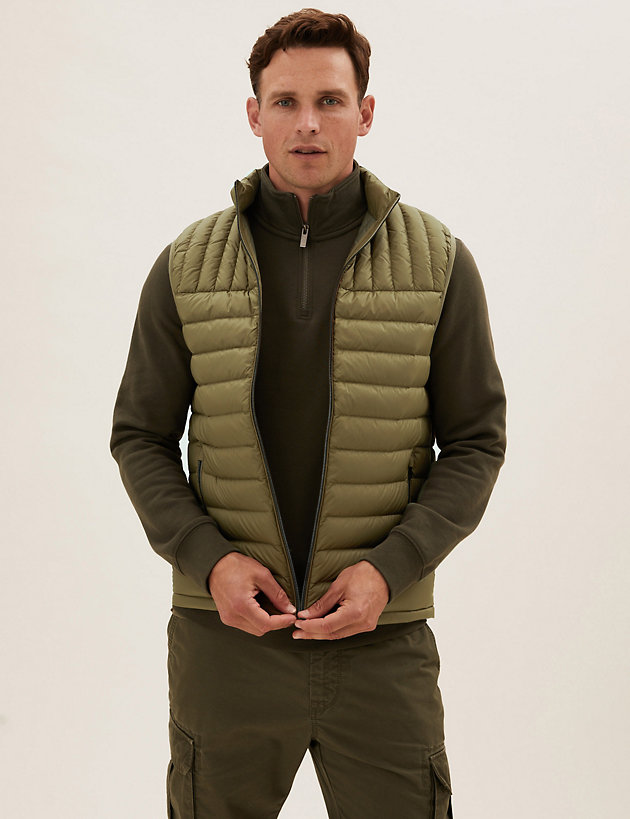 Feather and Down Gilet with Stormwear