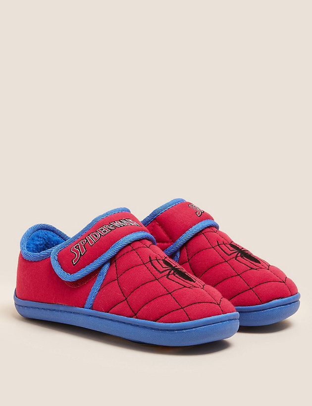 Kids' Spider-Man  Riptape Slippers (5 Small - 12 Small)