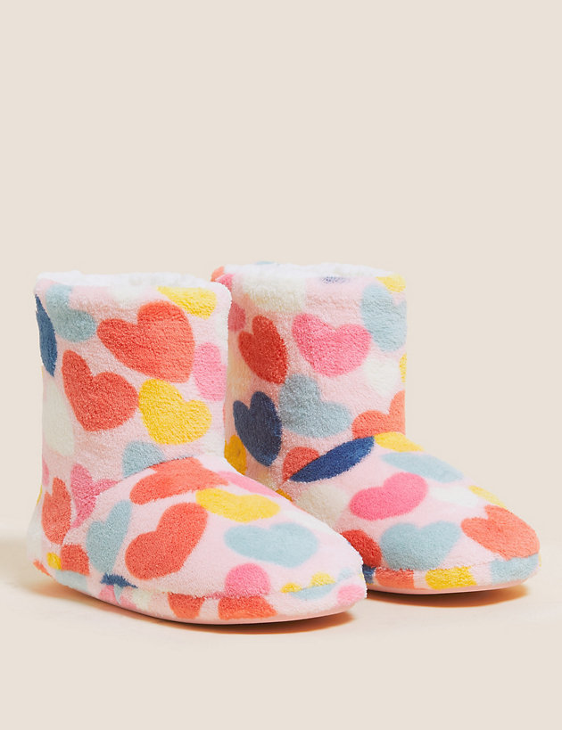 Kids' Heart Slipper Boots (5 Small - 6 Large)