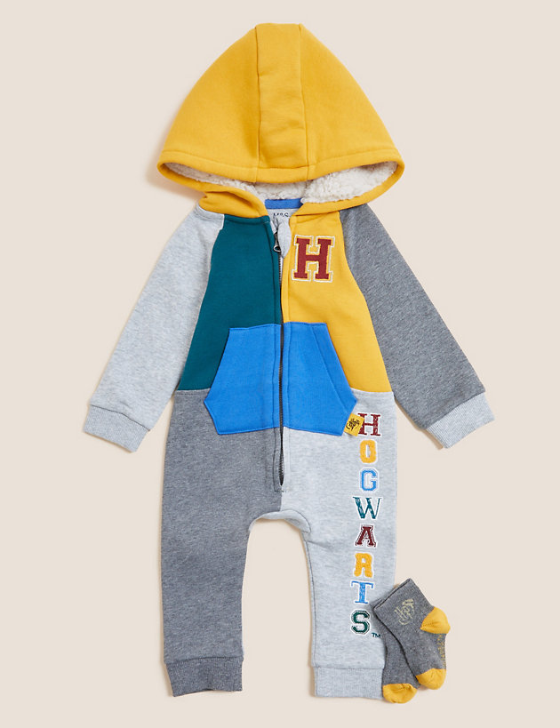 Harry Potter  2pc Cotton Hooded Outfit (0-3 Yrs)