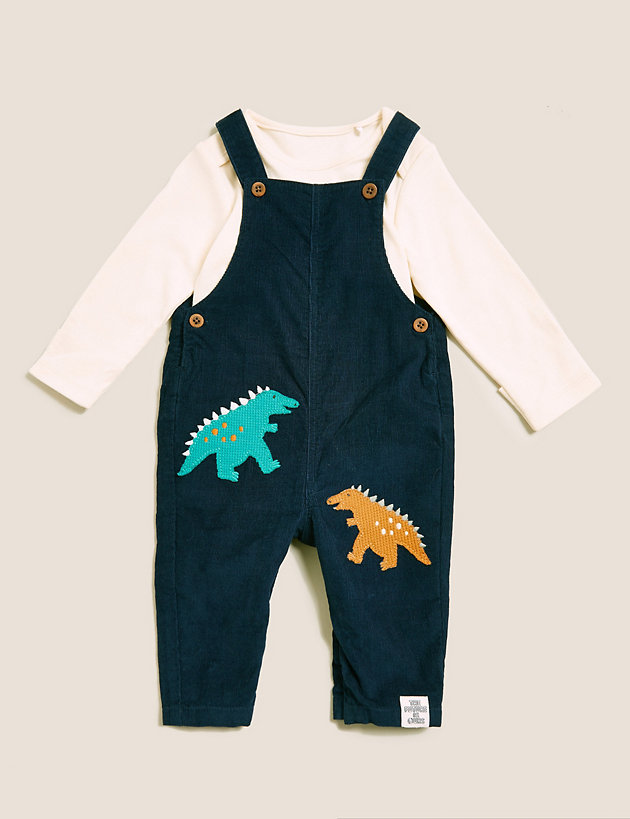 2pc Pure Cotton Dinosaur Outfit (0-3 Yrs)