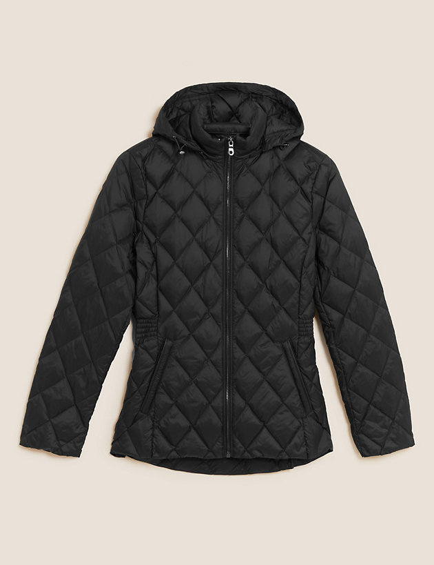 Feather & Down Quilted Puffer Jacket