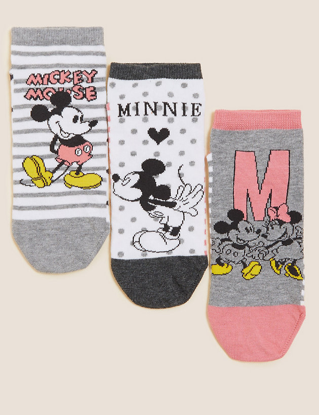 3pk Cotton Mickey  & Minnie  Trainer Liners