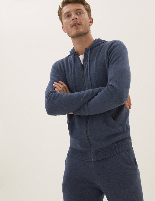 Pure Cotton Knitted Hoodie