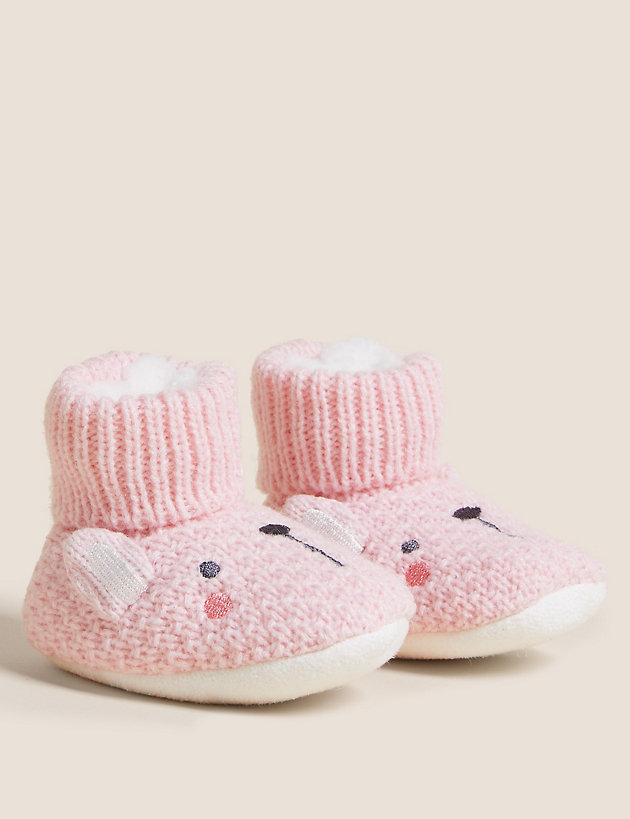 Bunny Knitted Booties (0-24 Mths)