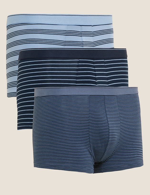 3pk Cotton Cool & Fresh  Striped Hipsters
