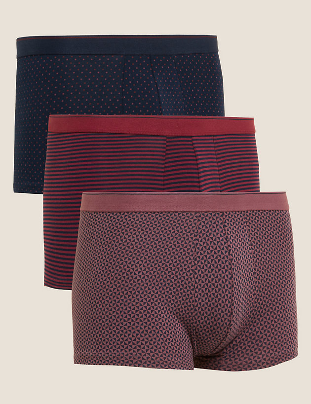 3pk Cotton Stretch Hipsters