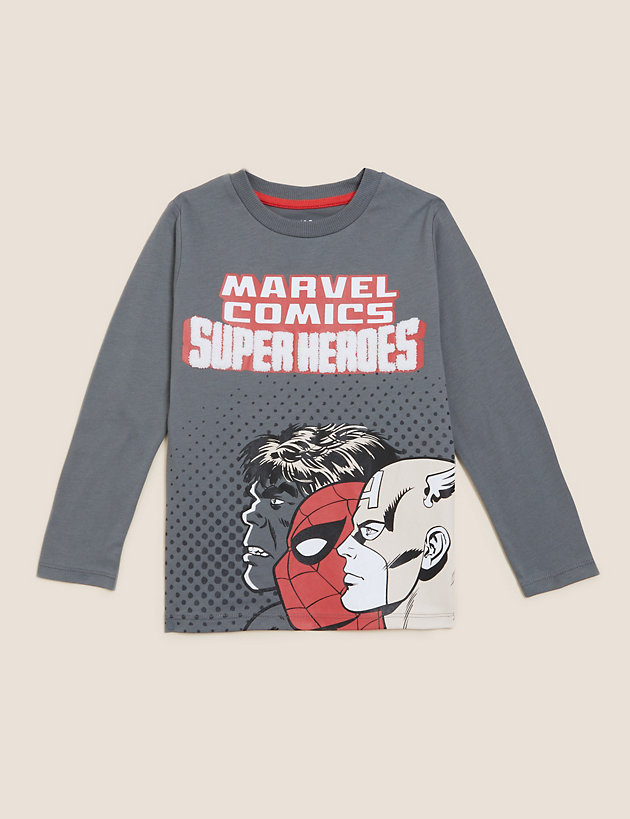 Pure Cotton Marvel  Top (2-7 Yrs)